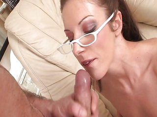 Girls with glasses cumshot compilation