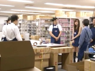 Asian Employees Fucking In The Storage Room