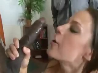 She takes huge black cock in front of hubby