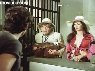 Beautiful Busty Brunette Edwige Fenech Exposes Her Bonerific Cleavage