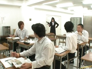 Horny Teacher Natsumi Kitahara Gets Gangbanged by her Students