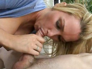 Saucy Blake Rose slurps on this throbbing meat pole