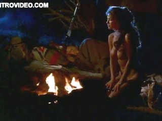 Naked Beauty Bobbie Phillips Heating Up By the Bonfire