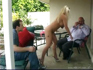 The Sexy Blonde Lady Victoria and Her Man Want To Pass a Class