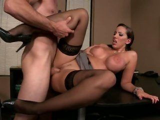 Kelly Divine spreading her legs for a good office fuck