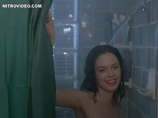 Brunette Rose McGowan Invites a Guy To Shower with Her