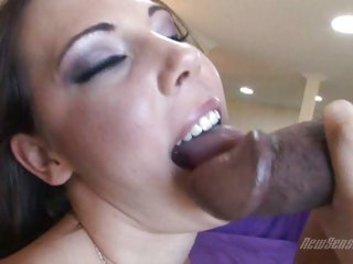 Horny porn sensation Mia loves the feel of hot jizz all over her slutty face