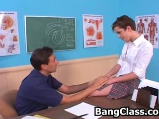 Shy teen girl seduced by the teacher