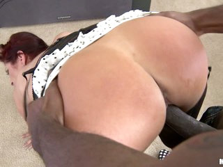 Good looking red-haired milf Tiffany Mynx with nice ass takes big black dick. She gives head to her dark skinned fuck buddy and then gets shagged doggy style. Tiffany Mynx loevs interracial sex.