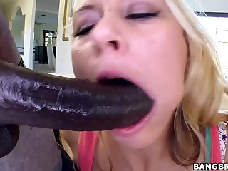 Long black dick for brave blonde Katie Summers