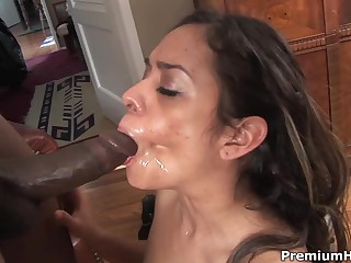 Nasty latina Estella Leon takes black rod