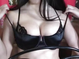 Evie Dellatossa parades her tits before a fucking