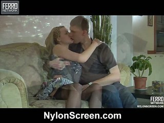 Jaclyn&Connor passionate nylon video