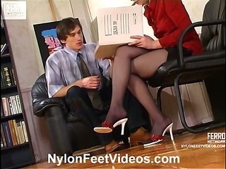 Rosa&Marcus stunning nylon feet movie