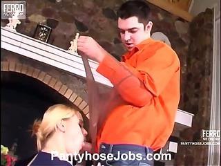 Susanna&Adam naughty pantyhose job scene