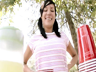 Petite and breasty, Britney definitely gets alot of attention! This Babe is not solely smoking sexy and and adorable but this babe is merely eighteen years old!! Britney sets up a lemonade stand to make some additional specie and when we showed up and asked her if this babe wanted to make some REAL money, that babe jumped at the chance to get fucked and facialed!! Not that this babe needed much convincing to start with. Her sinless looks are just a facade for her inward teenage nymphomania!!!