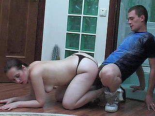 Stunning floor games with sex-addicted aged chick and well-hung guy