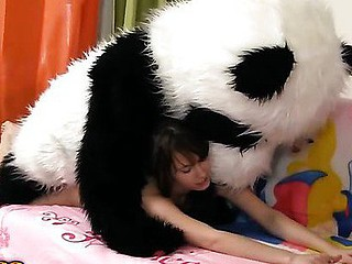 Tonight this cute dark brown is a wonderful fairy, and that babe can make any crave come true. So why not make her own desire come true, then? And the frisky chick turned her diminutive teddy bear into a large fluffy panda. Having him around was so fun! They danced and laughed and lastly even had strap on sex! And why the hell not, fairies can be horny sluts too, and they want to have sex with toys! Furthermore, the panda bear had a truly irresistible ding-dong wang. Have A Fun this fantastic teenporn episode full of indecent sex ...