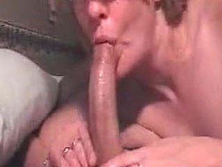 Guy with a pretty big dick gets his sensual oil rub by the sensual blonde wife. The oil must be flavored since she can't help but to give it a little taste. The tasting turns into a full out BJ and he feels the best of both worlds.