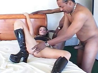 She can't get off unless it's with a pair of big black cocks