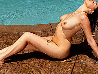 Kick back, soak up some sun poolside, and get ready for a wet ride with Nella Jay.  Let your troubles melt away as u watch Nella rub oil all over her flawless love bubbles, bumps and grinds her booty to the rhythm, and finishes off the day by riding Scott Nails massive jock.