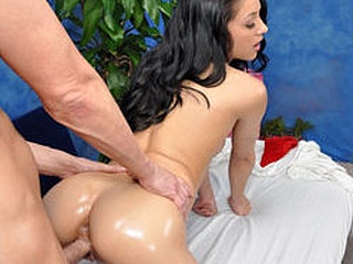 Morgan enticed and fucked hard by her massage therapist.