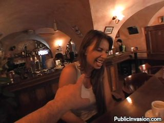 Me and this beautiful milf named Francesca went crazy in this restaurant. After talking and paying her went in the restroom where I had some hot and heavy action with her. She knelt and wrapped those sexy lips around my penis and much much more