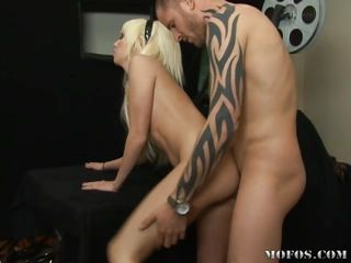 What a little doll Alexia Skye is! This pretty little whore takes it from behind, every hard, thick inch of it! She gets fucked so hard it takes her breath away, before going to her knees to receive a thick load of cum in her mouth and on her face.