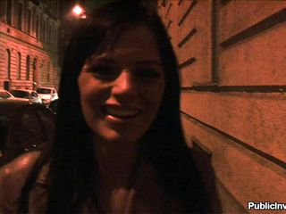 The streets at night can be a very dangerous place for such a pretty brunette. She's safer with me in that restroom, sucking my dick like a whore! All it was needed was a short conversation and some good old cash. The brunette started to undress and showed a smoking hot body before giving me head.