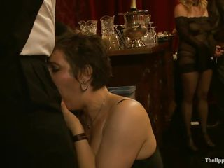 They are going to indulge into all kinds of stuff, things that almost all men and most women want. Most are afraid to express those feelings, but here all of those suppressed desires are fulfilled on the upper floor. Numerous acts of kinky sex, punishment, and depravity are enjoyed by participants.