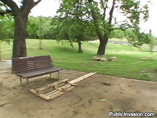 Hot blonde Cynthia is sitting on a bench and thinking about making some extra money. A pervert guy pays her for having sex in public. She agrees and they go together in the park for a hot cock walk in her dirty mouth. She licks the dick and sucks it very passionately like a real whore! Check it out.