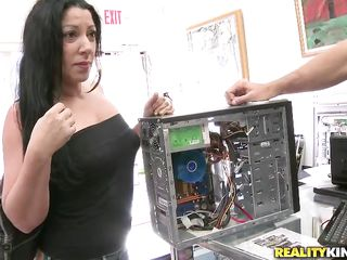 Watch this sexy blonde babe and that brunette lady acting like whores as this guy shows them the weight of his pockets! Both of these whores wants to earn those money by satisfying him. So they are showing him their nice tits and getting down to suck the jizz out of his hard cock. Let's see how he fucks them!