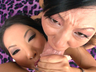 Asa Akira and Tia Ling one as well as the other pay off performer's large ramrod.