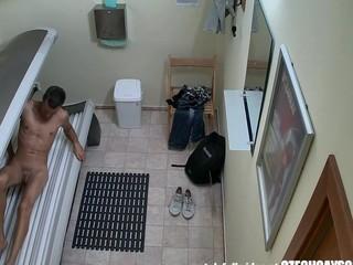 The world premiere!!! Here's the first hidden camera in solarium!! U haven't seen this in advance of! We spy on boyz in public solarium using two secret cameras. U will be shocked to watch what they do during tanning. One of the cameras is on the superlatively good spot INSIDE THE SOLARIUM!!! And things do happen there!!! Nobody is able to suggest u this! We breached into the privacy of Czech guy. Real footage from a spy camera in solarium. The first one in the world! Unbelievable!!!!