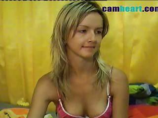 Hot sexy chick masturbates on webcam