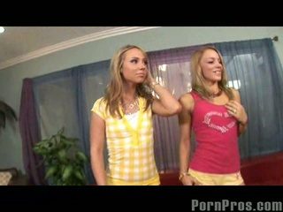 Blonde hannah west and friend suck and fuck and get facials