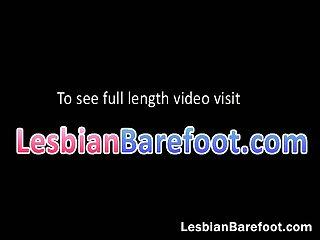 Lesbian slut gets licked