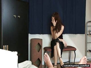 Stripping milf solo