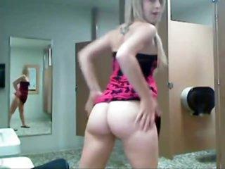 Webcam girl in little dress teases