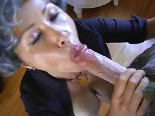 He cums on her big Asian tits